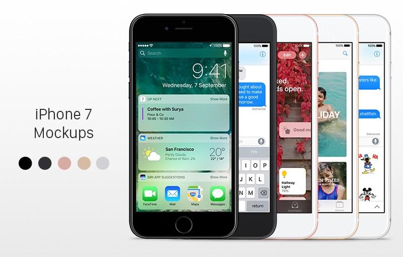 📱 10 Бесплатных Mockups iPhone 7 и iPhone 7 Plus для свежей презентации