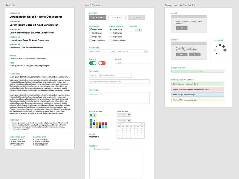 Free Wireframing Kit for Adobe XD