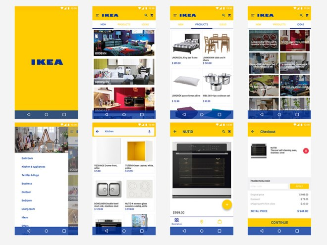 Ikea Android App Store Concept Freebie for Adobe XD