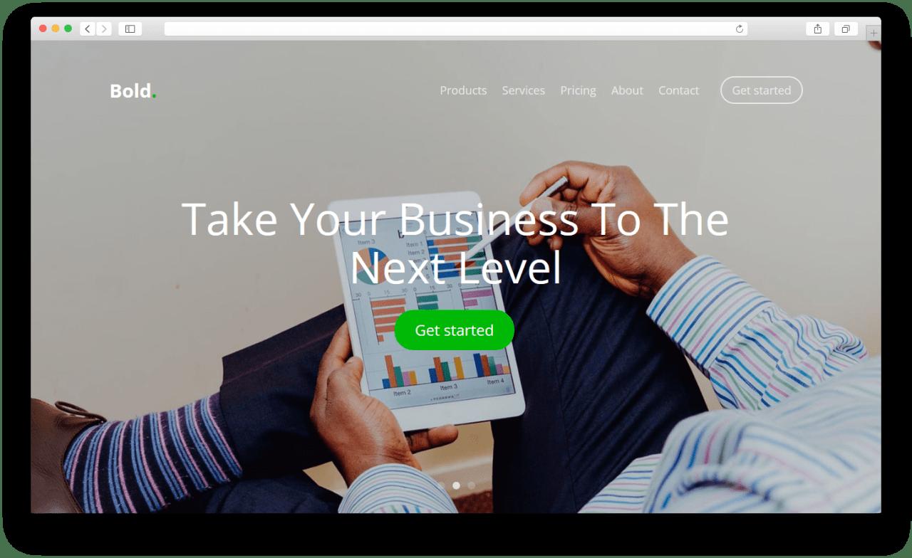 Bold | HTML 5 шаблон веб-сайта построенный с помощью Bootstrap