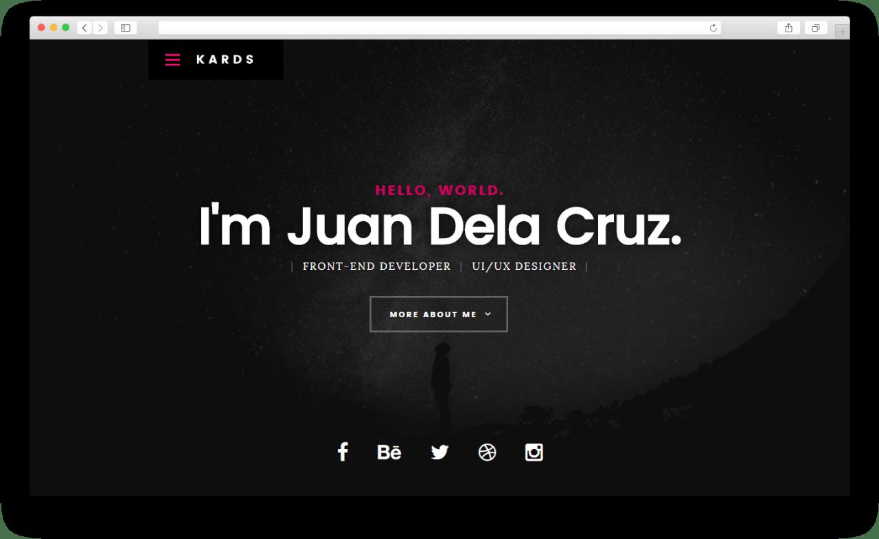 Kards   Бесплатный высококачественный шаблон веб-сайта