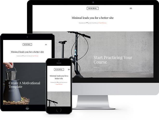 Minimal   Бесплатный HTML5 шаблон для любого типа сайтов
