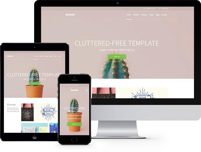 Render | Бесплатный HTML5 шаблон созданный на Bootstrap