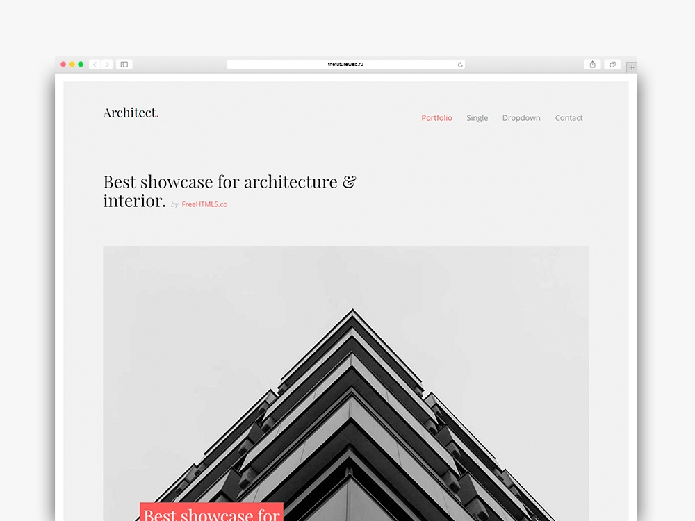 Architect Free HTML5 Bootstrap Template for Architects and Portfolio Websites
