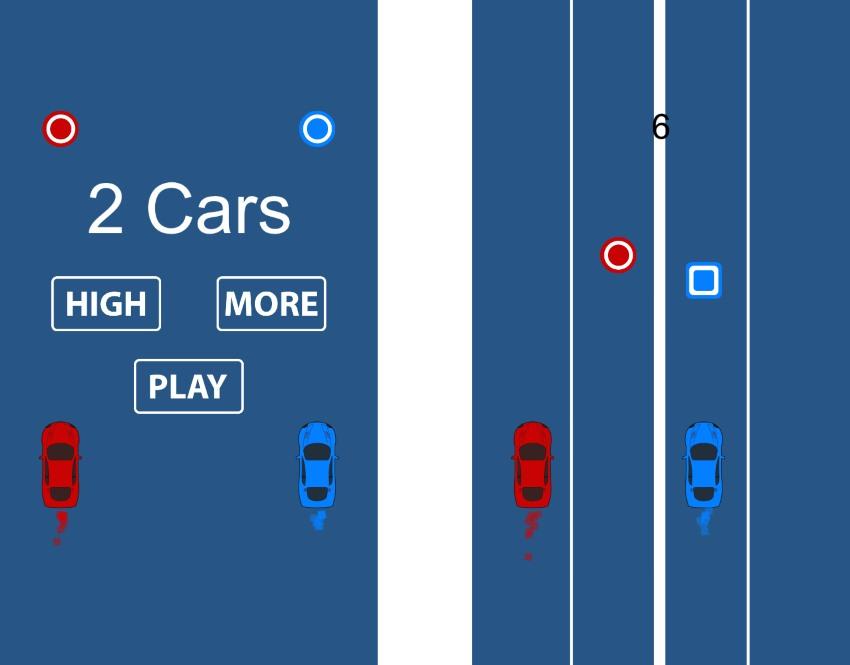 2 Cars Lane Swift iOS Game Universal Source Code