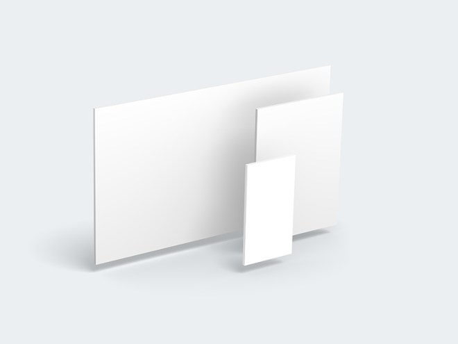 3D Web Showcase Mockup