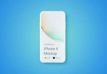 Бесплатный мокап iPhone X с изменяемыми цветами дляSketch и Photoshop