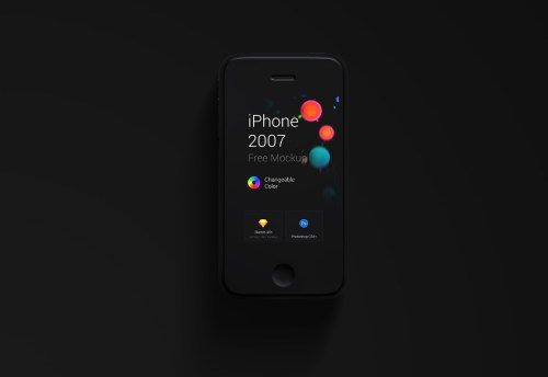 Free iPhone 1st Generation Mockup forPS & Sketch