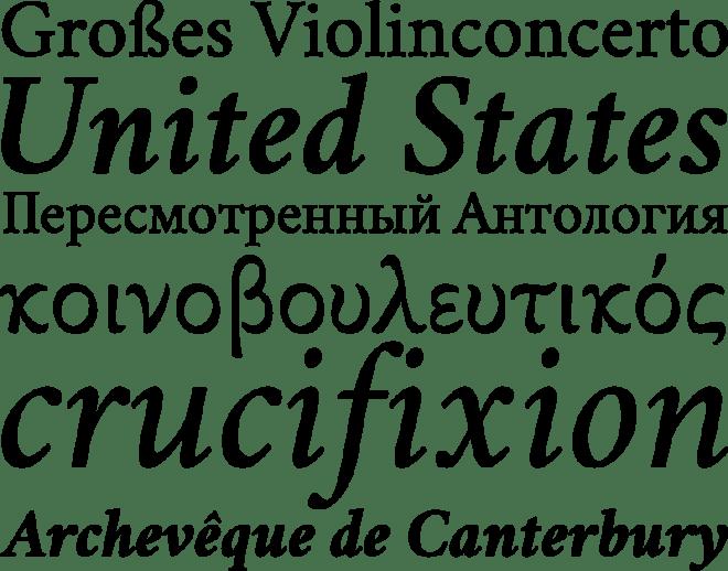 Crimson Text бесплатный шрифт от Sebastian Kosch