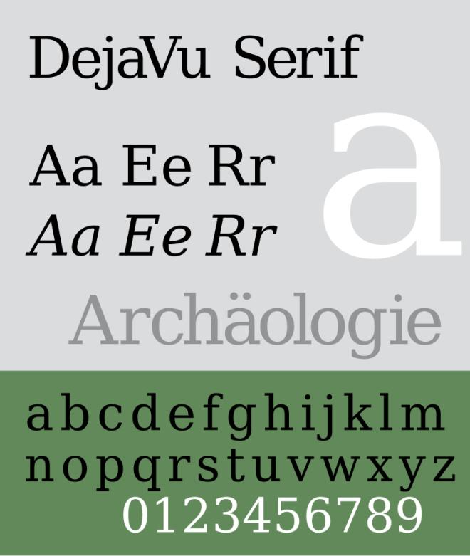 DejaVu Serif бесплатный шрифт от DejaVu Fonts