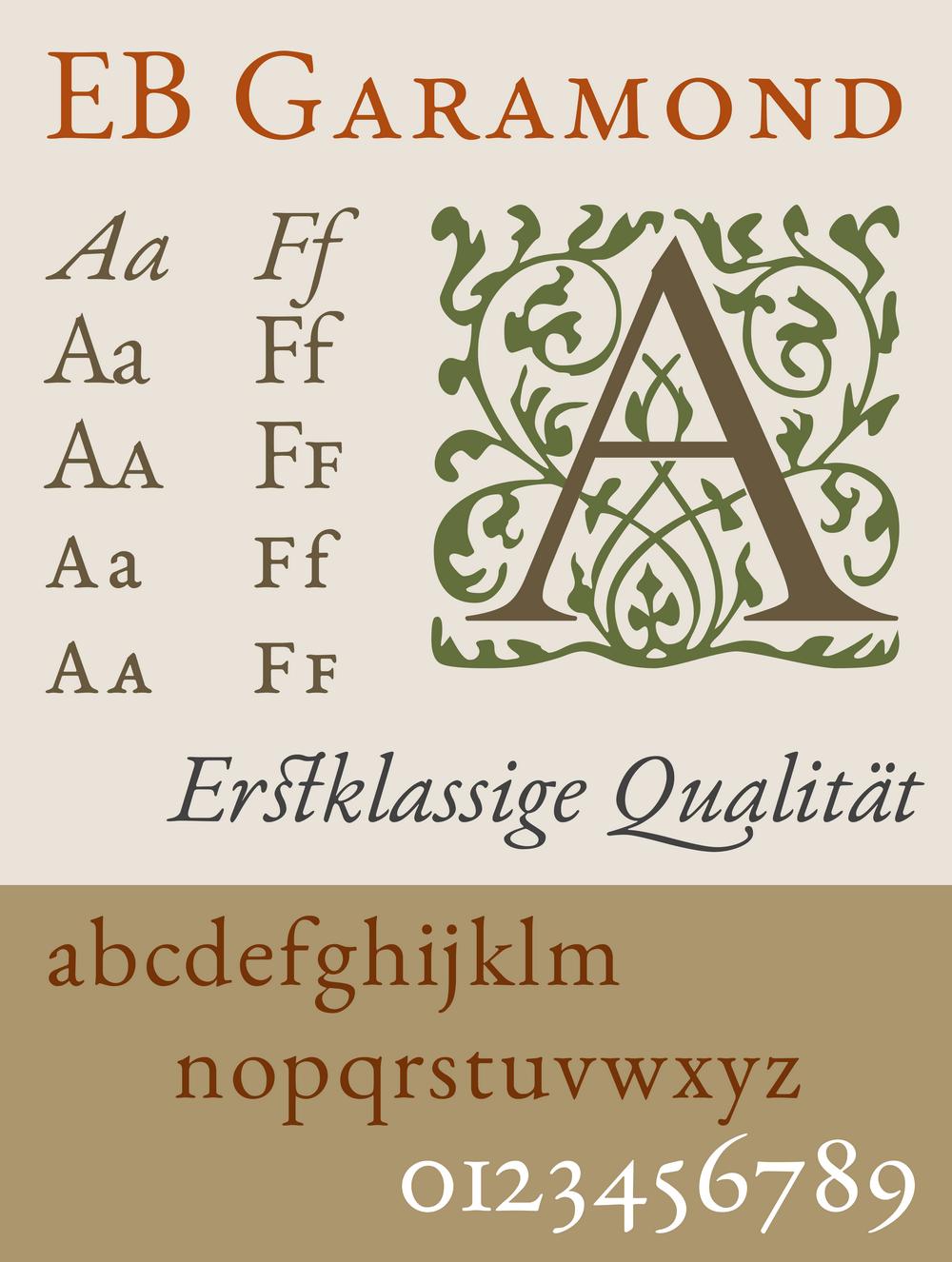 EB Garamond бесплатный шрифт от Georg Duffner