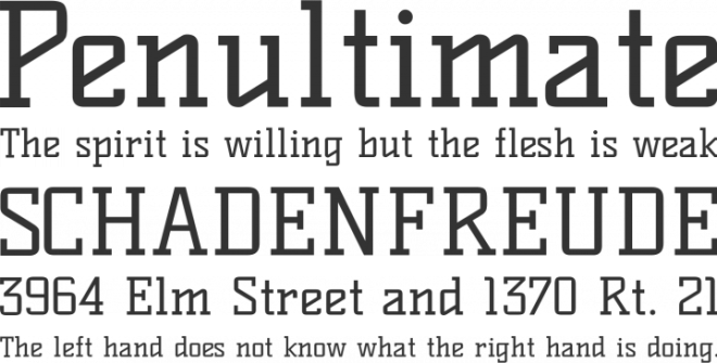 Kelly Slab бесплатный шрифт от Denis Masharov