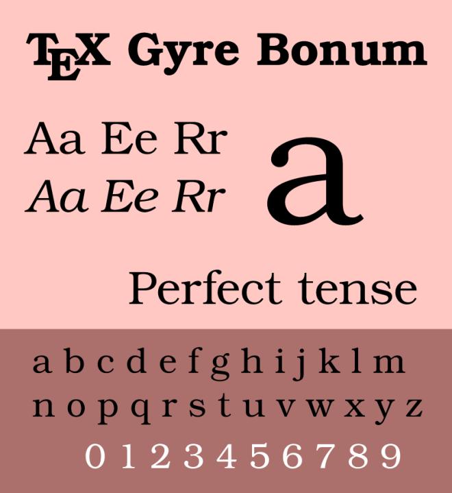 TeXGyre бесплатное шрифтовое семейство от GUST e-foundry