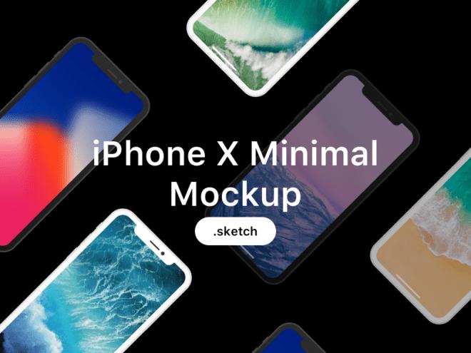 Минималистичный макет iPhone X для Sketch