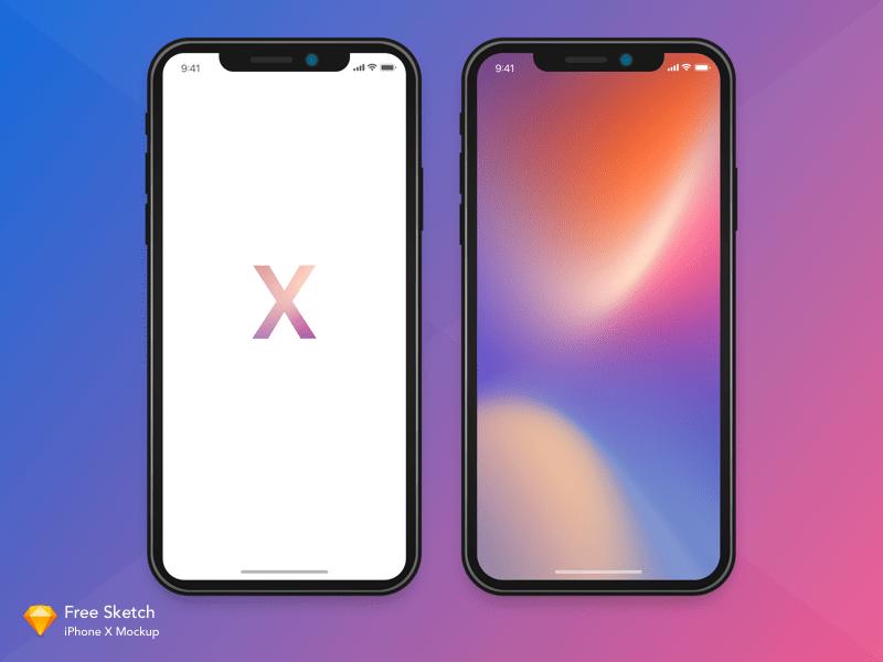 Iphone X Mockup Sketch Version