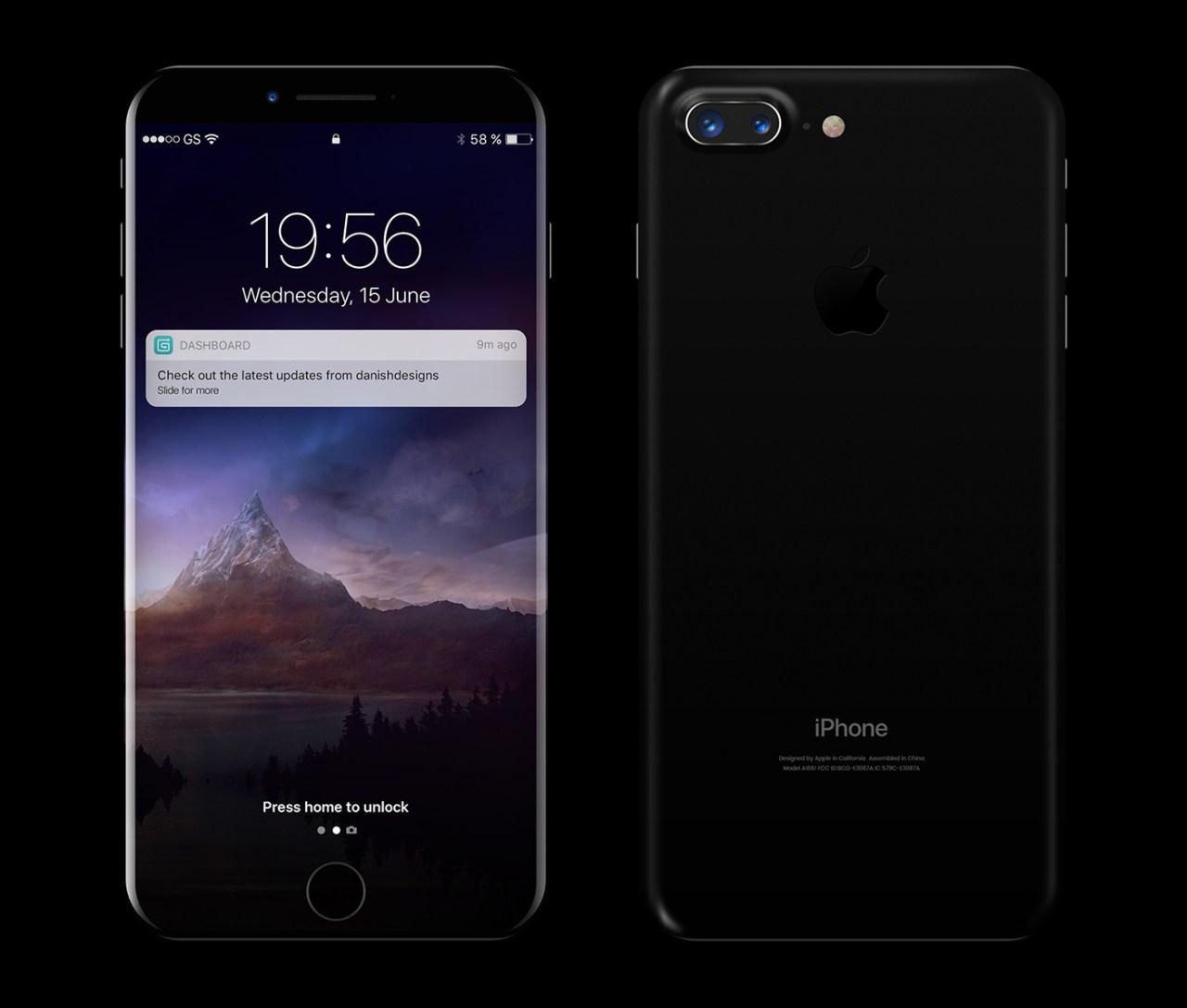 Бесплатный макет новенького устройства Apple iPhone 8 в PSD файле