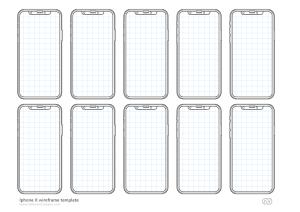 iPhone X – Бесплатный PSD для вайрфрейминга UX и шаблон мокапа