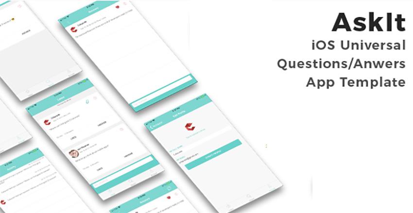 AskIt – Универсальный шаблон приложения iOS для вопросов-ответов