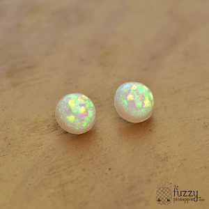 Holographic Sparkler Earrings in White