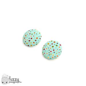 Mist Me XL Fabric Button Earrings