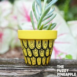 Pineapple Swirl Doodle Pot Set
