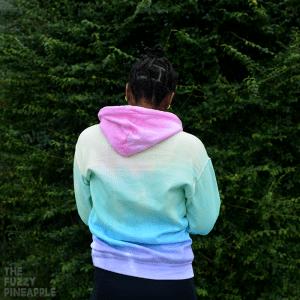 Pastel Rainbow Colorblock Hoodie