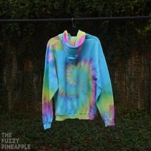 L Rainbow Swirl Hoodie RTS
