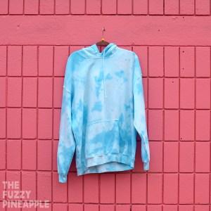 XL Splotch Hoodie in Blue Sky – RTS