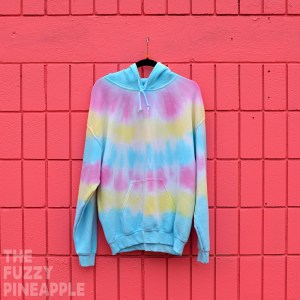 L Rainbow Stripe Hoodie RTS