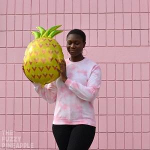 Pastel Coral Pink Crew Neck Sweatshirt