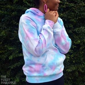 Pastel Pink Blue Splotch Hoodie