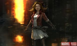 Scarlet Witch concept art from Marvels Avengers Age of Ultron