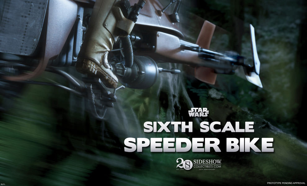Sideshow 1 6 Scale Star Wars Scout Trooper And Speeder Bike The