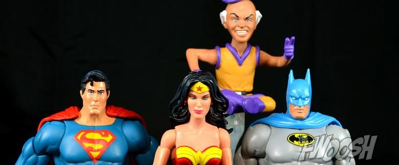 VITANGE LOT 3 SUPER POWER MATTY COLLECTOR SUPERMAN,WONDER WOMAN,ACERTIJO RIDDLER
