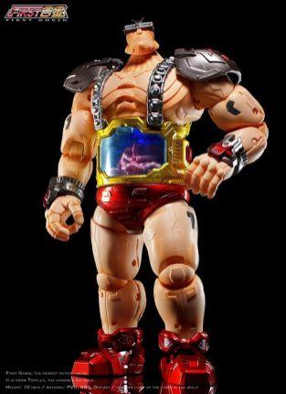 First Gokin 25CM TMNT Metal Big Boss Krang Figure NEW TSCA 2