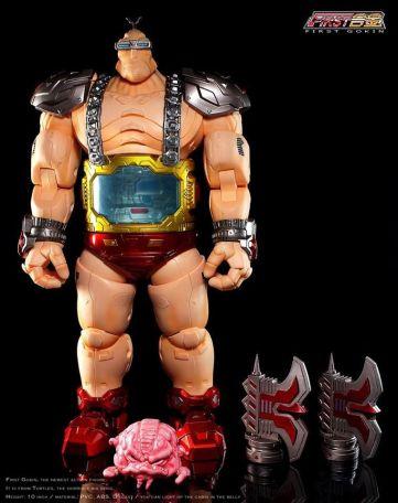 First Gokin 25CM TMNT Metal Big Boss Krang Figure NEW TSCA 7