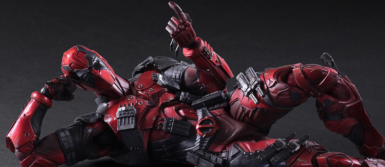 "11/"" Square Enix Play Arts Kai Marvel DEADPOOL Action Figure no box"