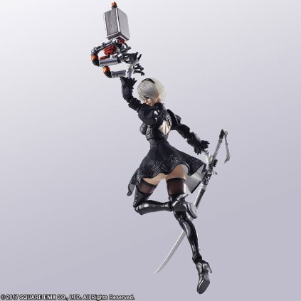 Square Enix BRING ARTS NieR Automata 2B Machine 2 Figure Set Promo 08