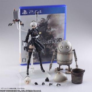 Square Enix BRING ARTS NieR Automata 2B Machine 2 Figure Set Promo 14