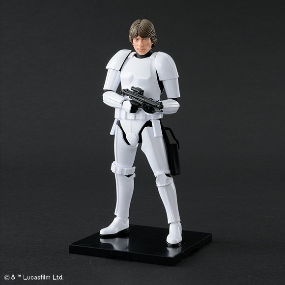Bandai Star Wars A New Hope Luke Skywalker Stormtrooper Model Kit Promo 01