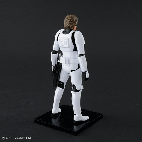 Bandai Star Wars A New Hope Luke Skywalker Stormtrooper Model Kit Promo 02