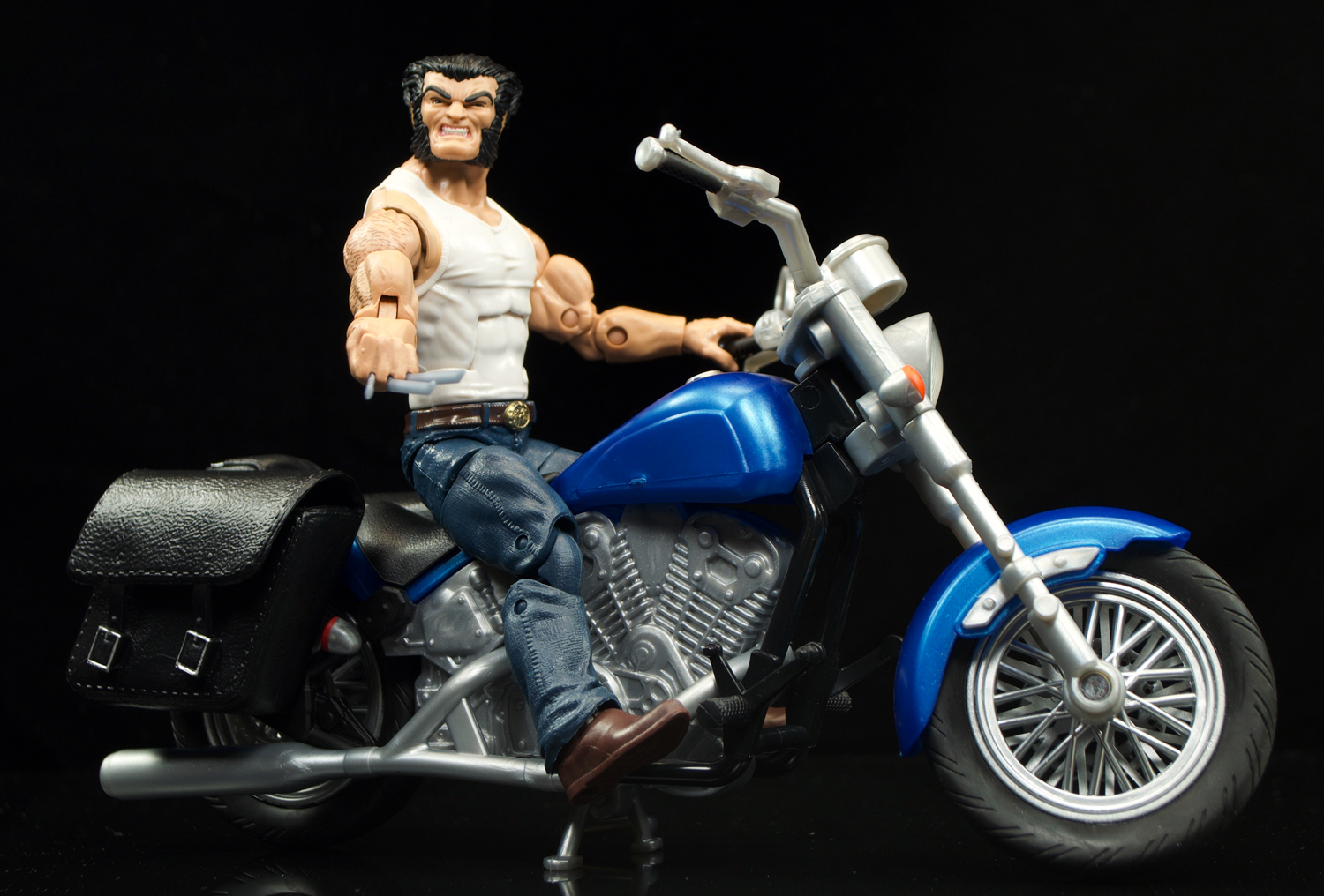Marvel Legends Wolverine and Motorcycle Set Hasbro