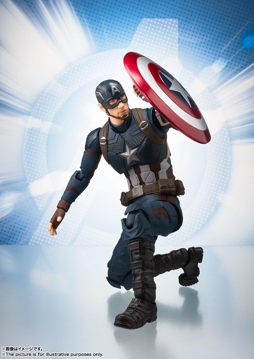 Bandai Tamashii Nations SH Figuarts Avengers Endgame Captain America promo 04