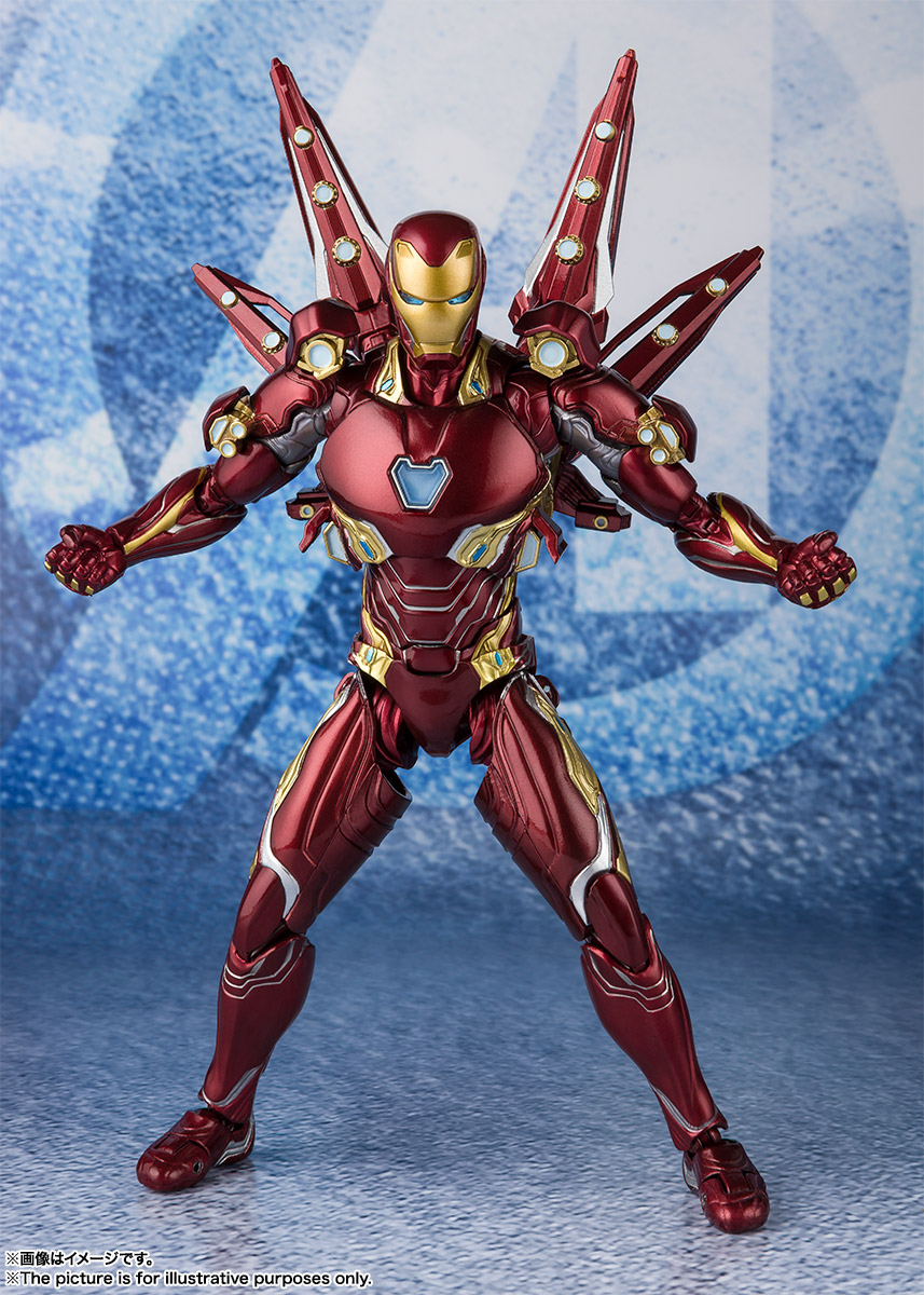 Bandai Tamashii Nations SH Figuarts Avengers Endgame Iron Man Mark 50 Nano Weapon Set 2 promo 01