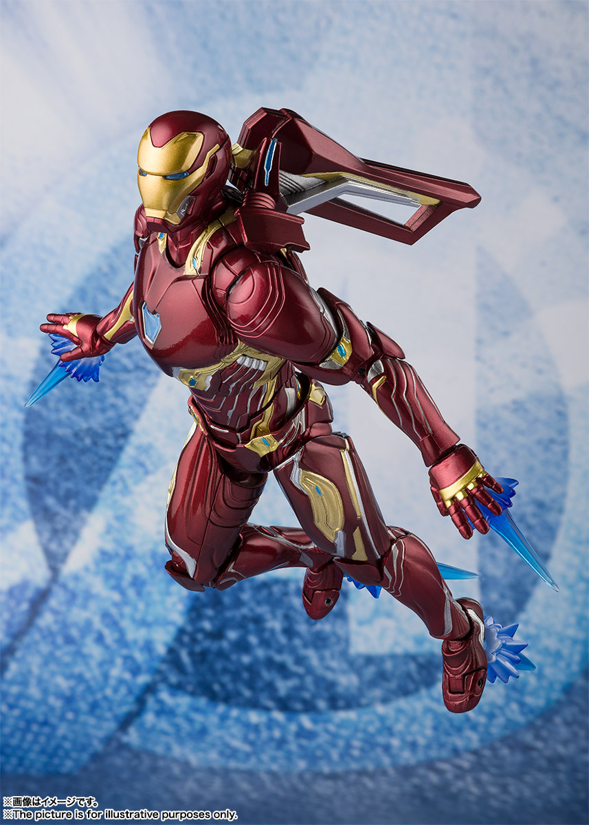 Bandai Tamashii Nations SH Figuarts Avengers Endgame Iron Man Mark 50 Nano Weapon Set 2 promo 10