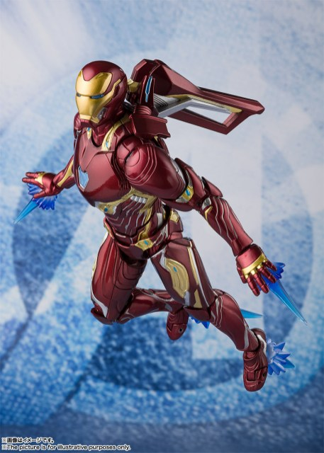 Bandai Tamashii Nations SH Figuarts Avengers Endgame Iron Man Mark 50 Nano Weapon Set 2 promo 10