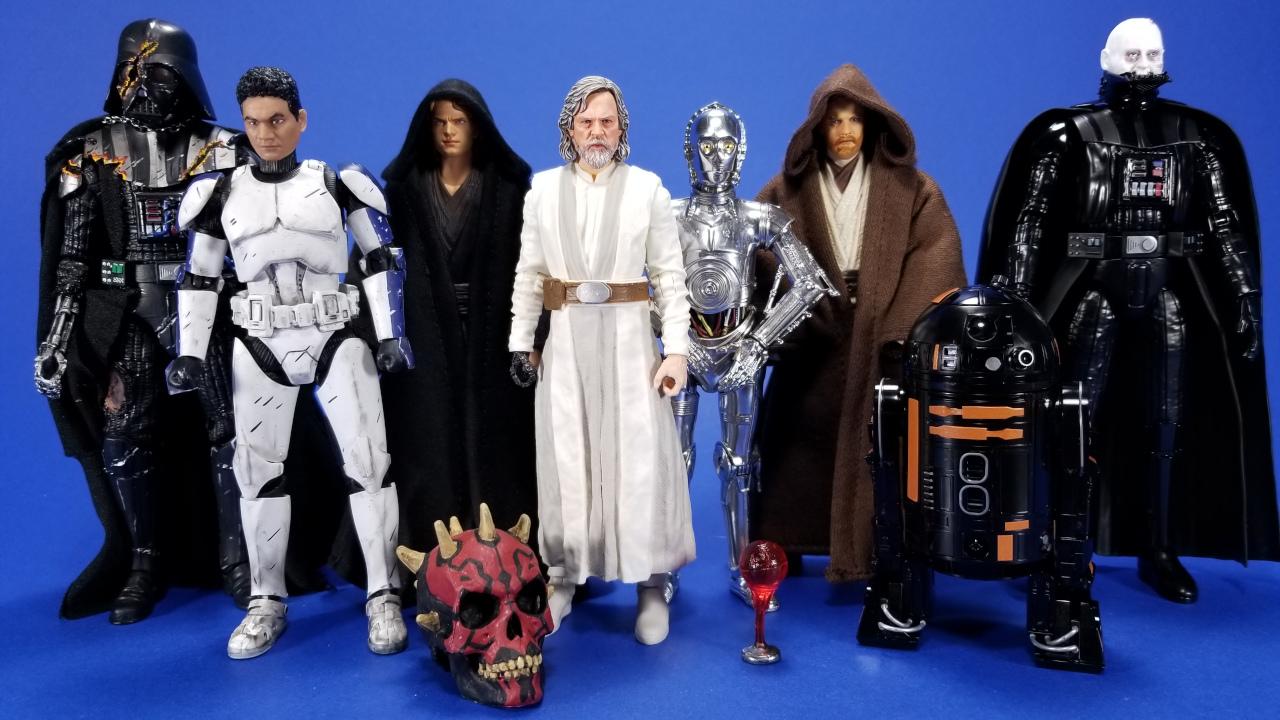 6 Minions Figures Star Wars R2-D2 Yoda Darth Vader Maul StormtrooperKnight NA68F