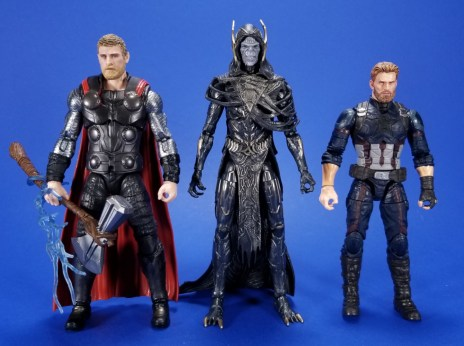 Hasbro Marvel Legends Avengers Infinity War Corvus Glaive and Loki 2 Pack Comparison 01
