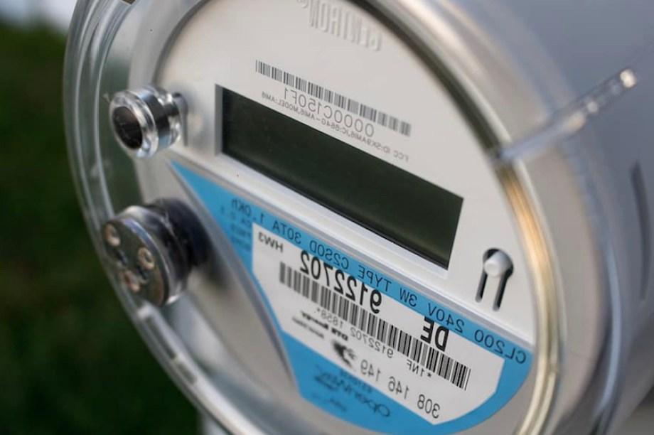 A closeup photo of digital electric meter
