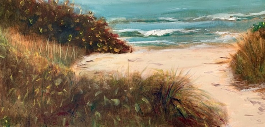 Paula Roy's plein air oil painting done at Pass-A-Grille beach
